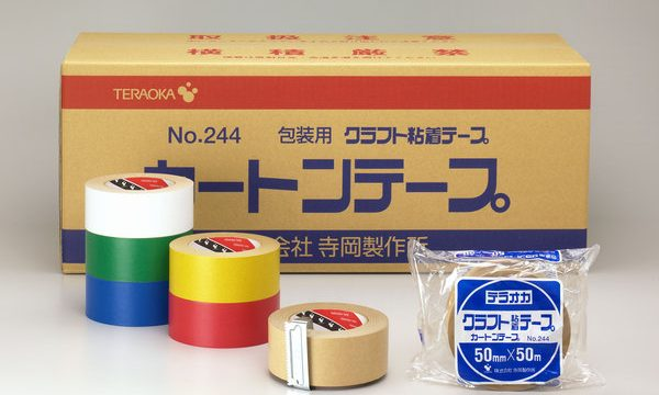 Teraoka No. 244 Carton tape/ Kraft adhesive Tape