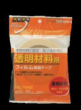 Teraoka No. 7642 Transparent Double-coated adhesive film tape