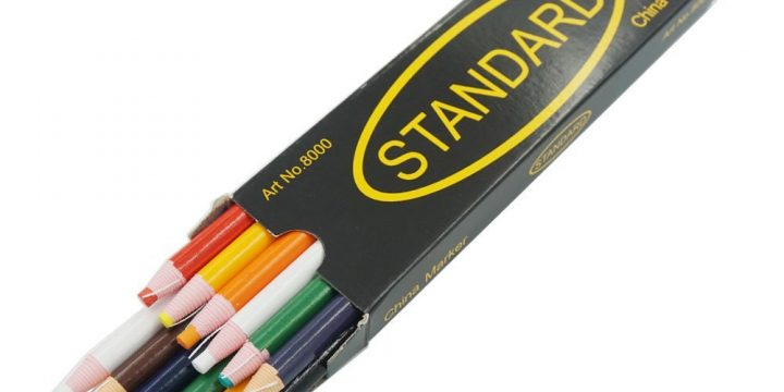 Standard China Marker (South Korea) Peel off Grease Pencil for Wood Glass Metal Cloth Wax Grease Mixed Ws